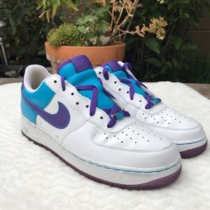 Nike Air Force 1 Low white blue purple size 10